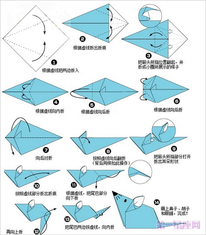千奇百怪的动物_十二生肖折纸图解 教你折出12生肖形状 - 第一星座网